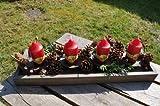 KUHEIGA Adventsleuchter Holz - Länge 53cm - Kerzenleuchter Tischleuchter