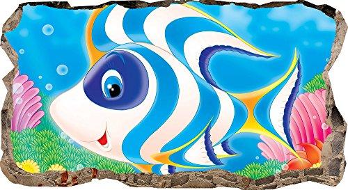 Startonight Papier Peint 3D Content Poisson, Décoration Murale Photo sur le mur Grand Format XXL Motif Moderne Déco d'Art Murale 82 x 150 CM