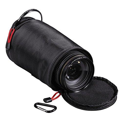 Hama Objektivköcher zur Aufbewahrung und Schutz eines Objektivs, 15 x 9.5 cm, Rexton, Schwarz