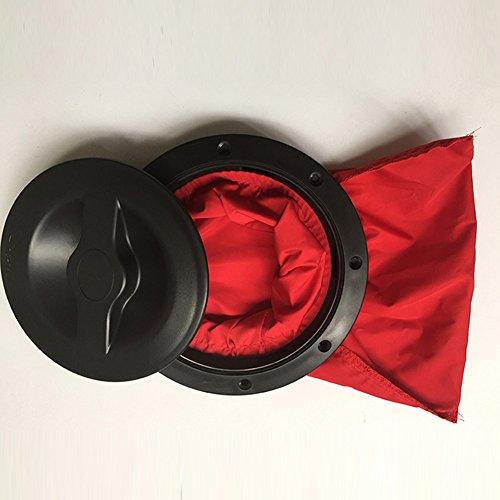 zantec rund Hatch Cover Deck Teller mit Aufbewahrungstasche Kit für Marine Kajak Boot (Cover Hatch Runde)