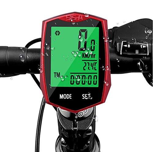 Fahrradcomputer, Fahrradtacho Drahtlos Kabellos wasserdicht Fahrradcomputer LCD-Hintergrundbeleuchtung Fahrradtacho Tachometer für Radsport Realtime Speed Track -