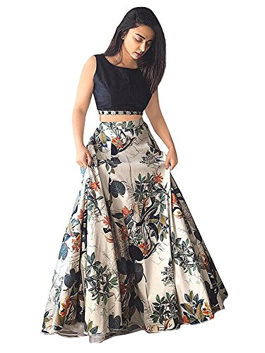 Lovisa Fashion Women's Satin Printed Lehenga Choli (printedcholi,multi-color,Free size)