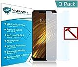 Slabo 3 x Premium Panzerglasfolie für Xiaomi Pocophone F1   Poco F1 Panzerfolie Schutzfolie Echtglas Folie Tempered Glass KLAR 9H Hartglas