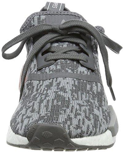 adidas NMD_r1 W, Sneaker a Collo Basso Donna Grigio (Grey Five F17/Grey Three F17/Raw Pink F15)