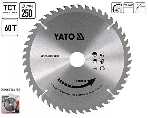 Yato professionelles TCT Kreissägeblatt 250mm, 60Zähne 30Bohrung (YT-6072)
