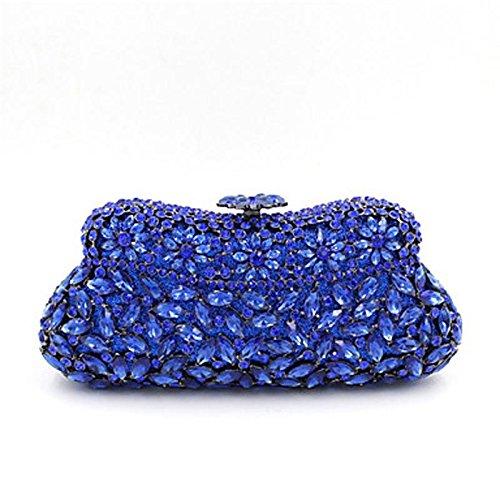 SUNNY KEY-Pochette e Clutch@Donna Borsa da sera Poliestere Materiale speciale Per tutte le stagioni Casual Serata/evento Matrimonio MinaudiereCiondoli/gioielli BLUE