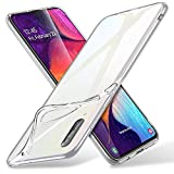 ESR Coque pour Samsung Galaxy A50, Bumper Etui de Protection Transparent en Silicone TPU Mince-Souple, Housse Silicone Flexible pour Galaxy A50 (2019) 6,4 Pouces (Série Essentiel Zéro, Transparent)