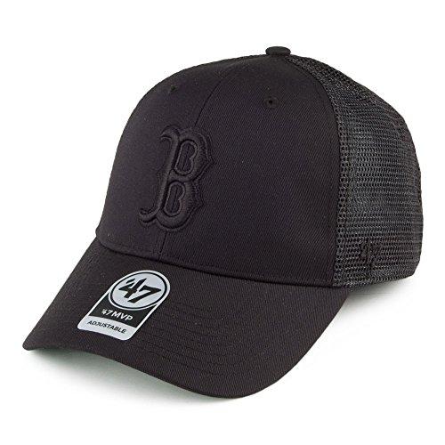 '47 Brand Boston Red Sox Branson MVP Trucker Cap - Black On Black