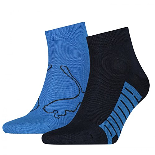 PUMA Unisex Quarter Socken Winner 4er Pack, Größe:39-42;Farbe:Navy / Grey / Strong Blue (Grey Quarter Socke)