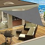 Dreieck-Sonnensegel Sonnenschutz für Außenbereich Schutz vor UV-Strahlung inklusive Seile zur Verankerung erhältlich in verschiedenen Farben und Größen 3.6x3.6x3.6 m grau