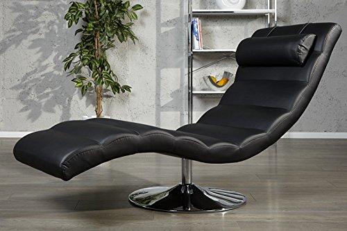 DuNord Design Relaxliege Recamiere LIGNANO Liege Liegesessel Chaiselounge Schwarz