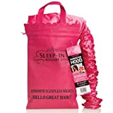 Sleep-In Rollers Hair Dryer Hood with Drawstring Bag