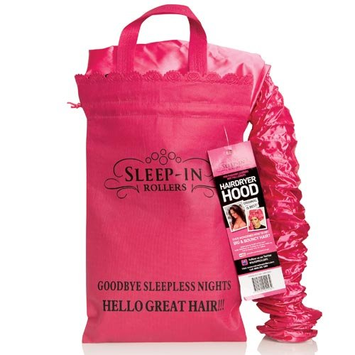 Sleep-In Rollers Hair Dryer Hood with Drawstring Bag (Dryer Hair Roller)