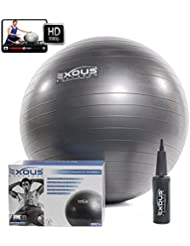Exercise Fitness Yoga Core Stability Balance Swiss Ball 65cm Anti Burst With 60 min of Professional online Video workouts & 2-Way-pump 100% LIFETIME GUARANTEE