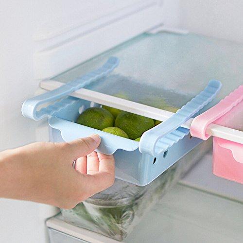 Sulifor Das Schieben des Kühlschranks spart Platzmanager-Gefrierfach-Aufbewahrungsfach, eine Schublade mit Zieh-Kühlschränken für die Frischhaltung der Klassifizierung unter dem Hängekorb -