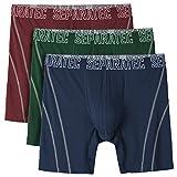 Separatec Herren Anti-Geruch Boxershorts Bambusfaser Separate Beutel atmungsaktive Unterhose mit Eingriff, 3er Pack (L, Blau+Rot+Grün)