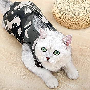 Doton Cat Professionnel Restauration Convient pour abdominaux Collerette des plaies ou des Maladies de la Peau, Alternative pour Chiens et Chats, après la Chirurgie Porter, Maison Vêtements (L)