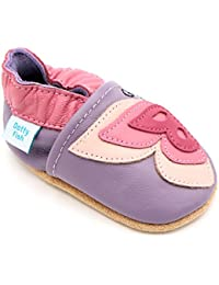 Dotty Fish - Zapatos de cuero suave para bebés - Niñas - Animales
