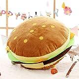 Honta Valentinstag Spielzeug Kinder Spielzeug Simulation Hamburger Plüsch Spielzeug kreative Cartoon Kissen (Farbe : Hamburger, Größe : 40cm*40cm)