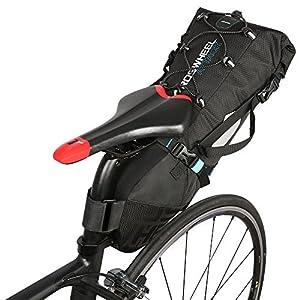 Lixada Impermeable Bicicleta Bolsa Bicicleta Bolsa para sillín de Bicicleta alforja Bicicleta MTB montaña Carretera Bicicleta Bolsa de Cola Asiento Ajustable 3l-10l