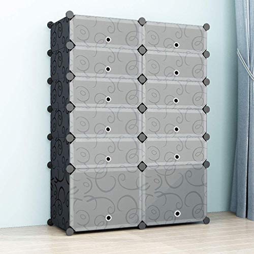 Simpdiy scarpiera plastica grande scatola portaoggetti per sneaker (2x5 cubes con boots cube 93x37x126cm) organizzatore di scarpe sistema di scaffalature