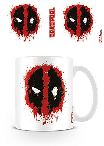 "Pyramid International""Deadpool (Splat)"" Official Boxed Ceramic Coffee/Tea Mug, Multi-Colour, 11 oz/315 ml"