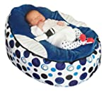 Baby bean bag snuggle bed bouncer wit...