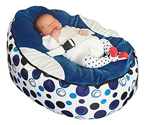 Baby bean bag snuggle bed bouncer with filling