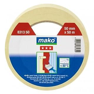 Mako Maler-Abdeckband 80° C für den Innenbereich 50 mm x 50 m