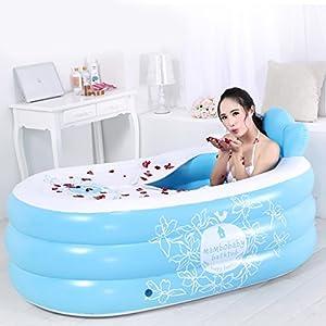 Helen Vasca da bagno gonfiabile per piscina per bambini adulti Vasca da bagno isolante pieghevole aumento ( Colore : Blu )