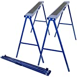 51Fv12AozqL. SL160  - BEST BUY# Pair of 780mm Folding Steel Trestle Saw Horse Stands Non Slip Carpenter Builder Reviews