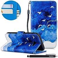HUDDU Bunt Muster Handyhülle Samsung Galaxy A5 2017 Leder Hülle Flip Wallet Case Ledertasche im Bookstyle mit... preisvergleich bei billige-tabletten.eu