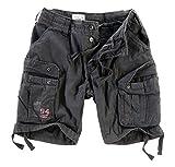 DELTA Herren Airborne Vintage Cargo Shorts, schwarz, Größe M