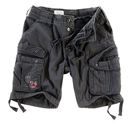 Surplus Herren Airborne Vintage Cargo Shorts, Schwarz, Gr. XXL