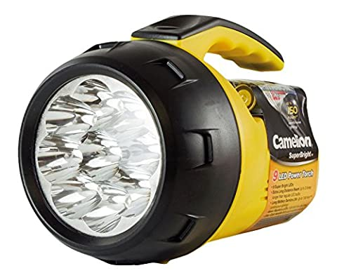 CAMELION SuperBright - 9-speed LED hand lamp / robust 9-speed flashlight & power torch
