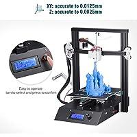 FLOUREON J1 Impresora 3D DIY de Aluminio con Estructura de Metal Completa Alta Precisión Pantalla LCD