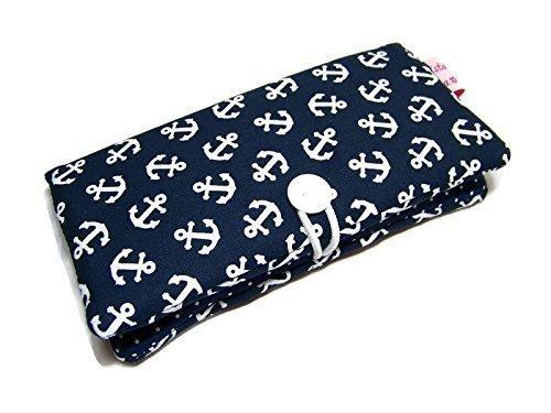 Portemonnaie Geldbörse Geldbeutel Börse Anker blau oder rot