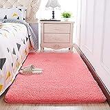 MekuvHzat Anti-rutsch Teppich,30mm dick - staubsaugen - Nicht vergie?en - kein formaldehyd - no-fade weiche teppiche für Wohnzimmer & Schlafzimmer dekor-Rosa-A 200x80cm(79x31inch)