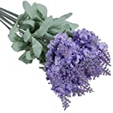 1x 10 Heads Artificial Lavender Silk Flower for Bouquets Wedding Home Party Decor (Light Purple) by Broadfashion