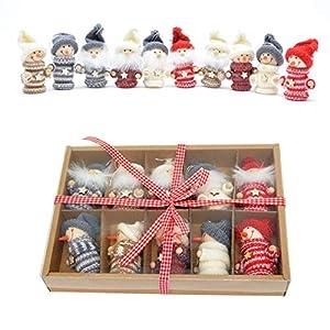 Gifts 4 All Occasions Limited SHATCHI-1151 Shatchi - Juego de 10 cajas para colgar en el árbol de Navidad hechas a mano