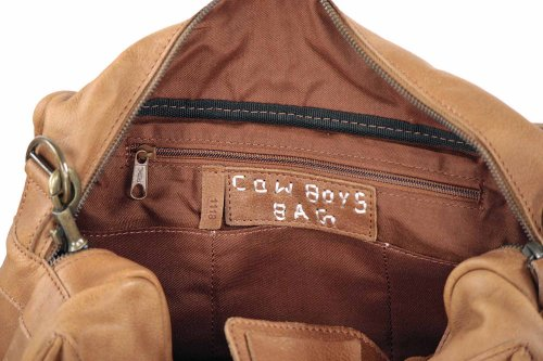 COWBOYSBAG The Bag small - sac en cuir unisexe (37x28x14 cm) Braun (Cognac)