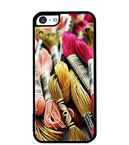 Fuson Designer Back Case Cover for Apple iPhone 5c (Wive Woolen Cloths Barcode Cold )