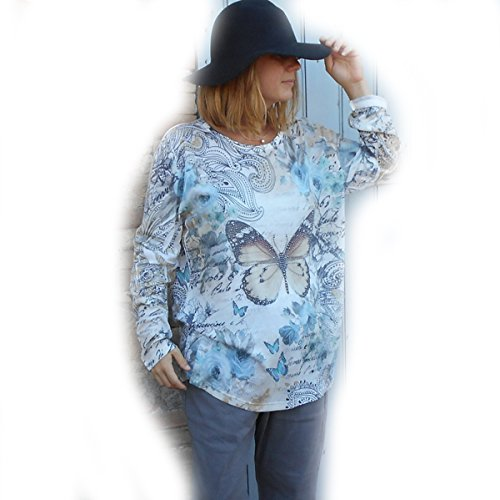 Coklico - Tunique Grande Taille Lagenlook Papillon strass - 44 46 48 50 Coloris\\Beige
