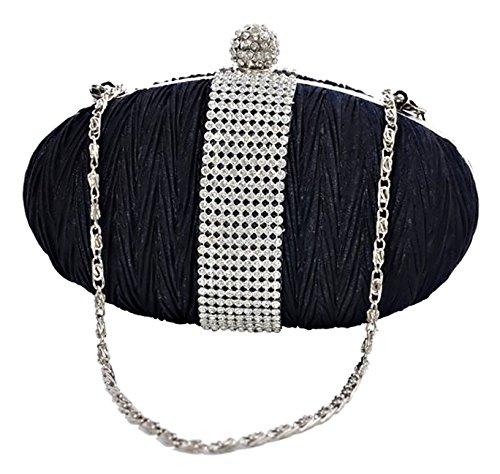 Eyecatch - Elegante Borsa Da Donna Con Pochette Da Sposa Borsa Da Sera Blu Navy