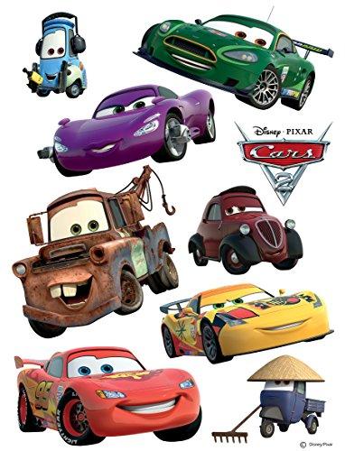 AG Design DKs 1089 Disney Cars, Wand Sticker, Papier, Colorful, 30 x 30 cm