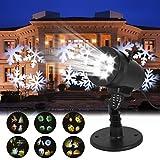 LED Lichteffekt, GreensKon Weihnachten Projektor Lampe Innen Außen Projektionslampe Ip65 Garten Disco Party Licht(14 Muster Folien)