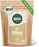 Whey Bio Protein Pulver 900g neutral - 80% Proteingehalt - ohne Zucker - ohne Süßstoff - Muskelaufbau - Hergestellt, abgefüllt und kontrolliert in Deutschland (DE-ÖKO-005)