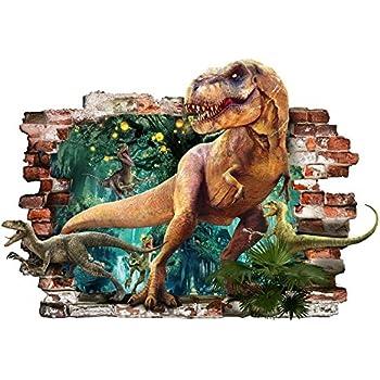 15ac9405a19565 Dinosaure T-Rex 3d amovible en PVC Autocollant mural Home Decor Chambre    coucher Autocollant Papier mural Stickers pour Kid Chambre de 57 cm x 81 cm