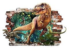 Idea Regalo - adesivi murali dinosauri