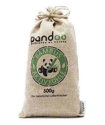 pandoo 1 x 500g natürlicher Bambus Lufterfrischer mit Aktivkohle – Luftreiniger